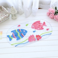 New fish pattern bathroom mat with absorption function and non-slip function