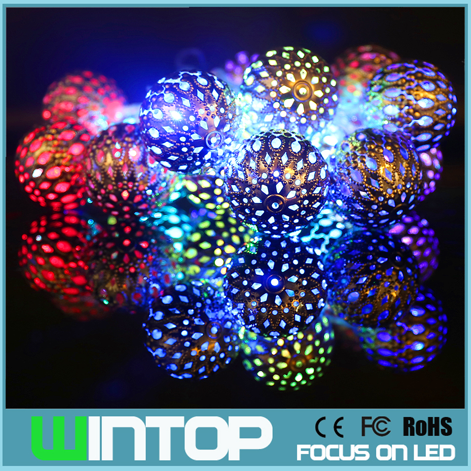 String Lights Big W : High Quality 2M/20LED 4cm Big Metal Ball LED String Light with Battery Box Christmas Lights for ...