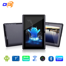 "7 ""tablet pc android 4.4 de google a33 quad-core 1g flashtablet pc quad core de 16 gb bluetooth wifi q88 tab soporte 3g externo"