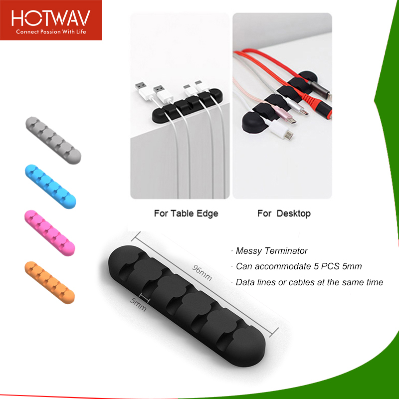 HOTWAV Cable Protector Multi-Colors Mobile Phone Cable Organizer For Home Office Soft Silicone Charger Cable Protector