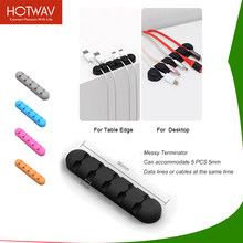 HOTWAV Cable Protector Multi-Colors Mobile Phone Cable Organizer For Home Office Soft Silicone Charger Cable Protector(China)