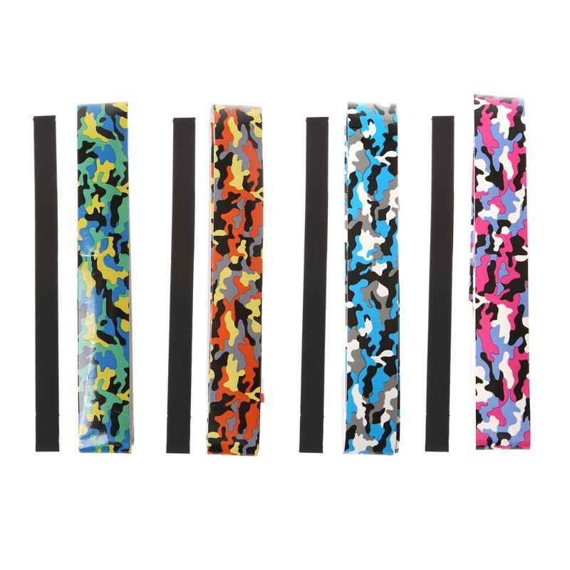 Sports Camouflage Tennis Badminton Racket Grip Anti-Skid Sweat Absorbent Tape Overgrip Fishing Rods Sweatband Tennis Accessories
