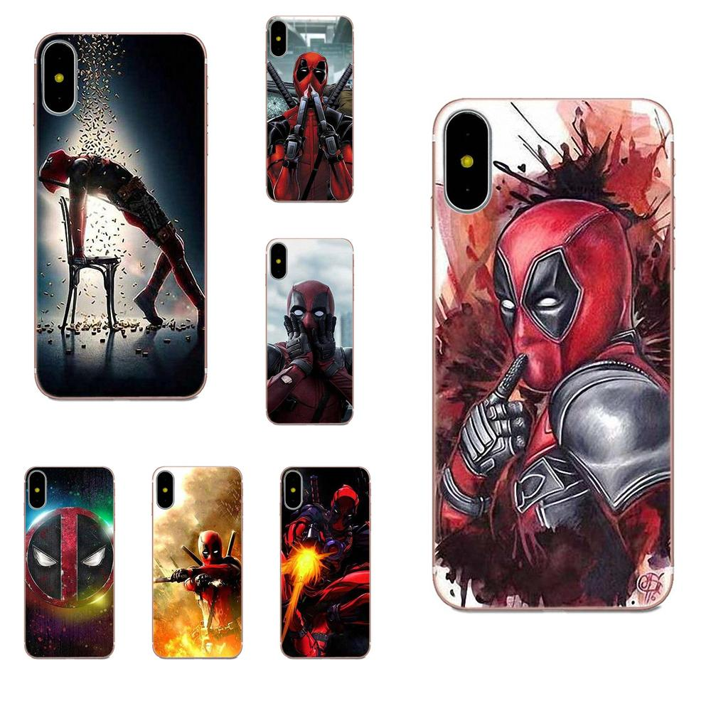 <font><b>Vertical</b></font> Phone <font><b>Case</b></font> For <font><b>Xiaomi</b></font> Redmi <font><b>Mi</b></font> Note 7 <font><b>8</b></font> 9 SE Pro Lite Go Play Deadpool image