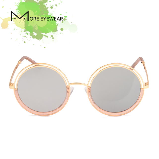 2018 DADO ronda nueva moda de mujer gafas de sol polarizadas espejo lente  con la pierna 3b2a6bc895e1