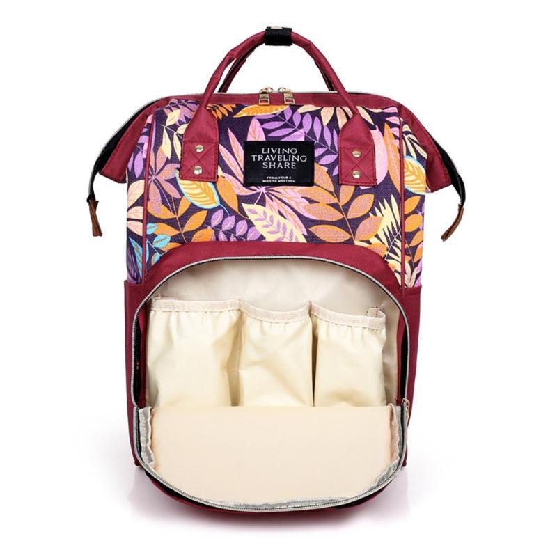 HTB1w CBSHrpK1RjSZTEq6AWAVXaY Large capacity Mummy Maternity Travel Backpacks Nylon Plant Print 2019 Stylish Baby Diaper Shoulder Bags Daily Casual Travel New