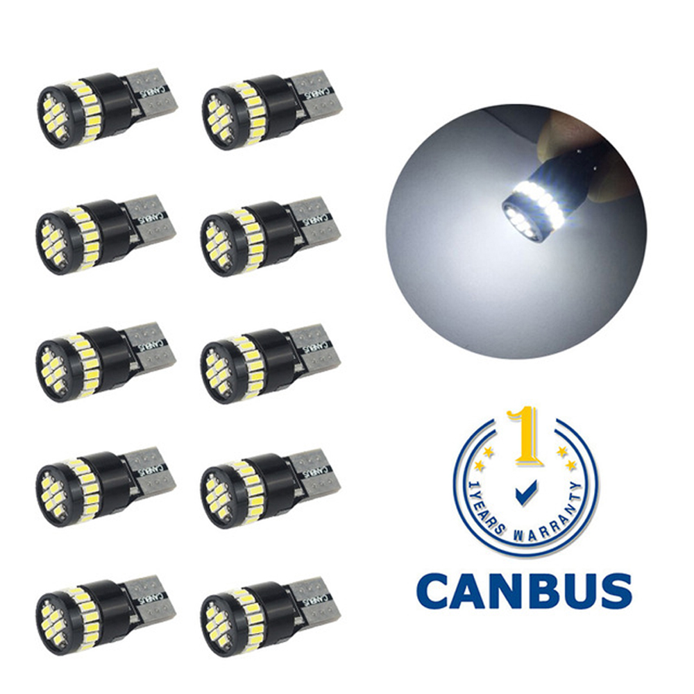 T10 W5W <font><b>LED</b></font> Canbus Bulbs Car Clearance Parking <font><b>Lights</b></font> For Volkswagen <font><b>VW</b></font> Passat B5 B6 B7 B8 t4 <font><b>t5</b></font> Caddy Polo 6R Scirocco 12V image