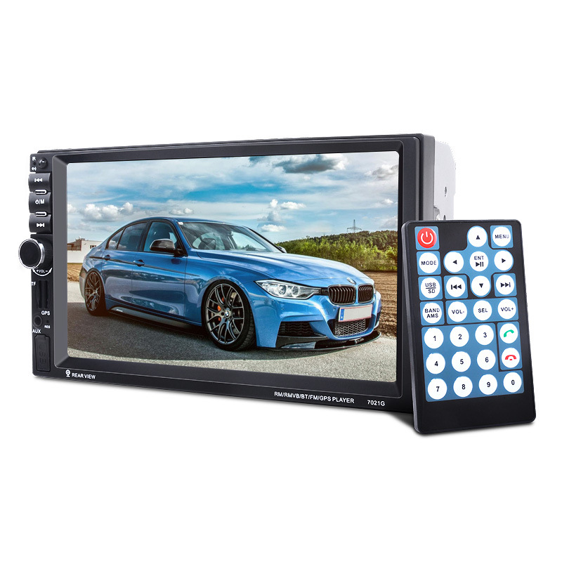 7 Touch Screen 7021G Car Bluetooth MP3/MP4/MP5 Player GPS Navigation Support TF USB AUX FM Radio Rearview Camera Steering Wheel car mp5 player with rearview camera gps navigation 7 inch touch screen bluetooth audio stereo fm function remote control