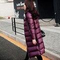 2016 luz jaqueta longa para baixo. ultraleves para baixo casaco comprido. mulheres de grande porte jaqueta fina para baixo roupa morna do inverno .. jaqueta
