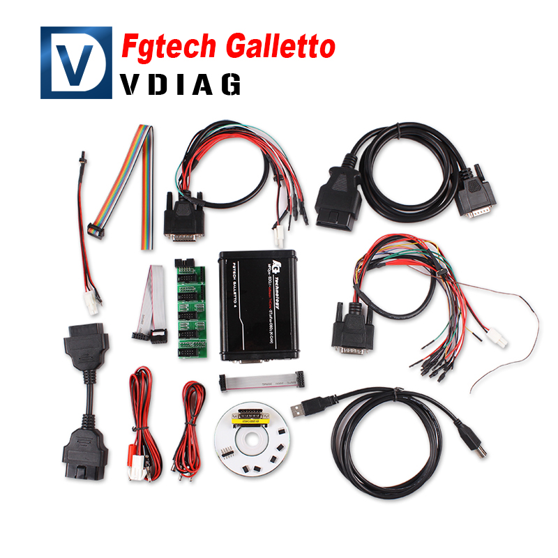 Super scanner FGTech Galletto 2 Master EOBD2 V54 newest version fg tech can for cars trucks