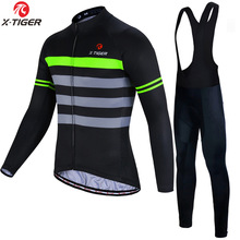 X-Tiger Winter Thermische Fleece Fietsen Jersey Set Maillot Ropa Ciclismo Lange Mouwen Mountian Bike Wear Warm Fiets kleding