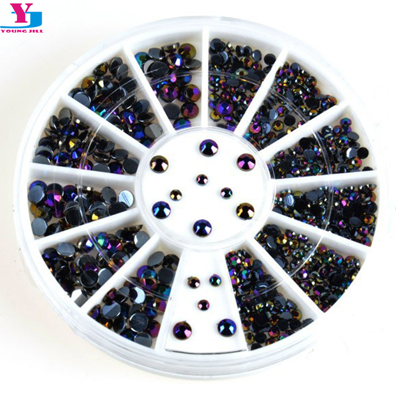 New Glitter 3D Nail Art Decorations Shiny Colorful Sticker Steeple Design Nail Tools Jewelry Nails Crystal DIY Nail Supplies mioblet 2g box mirror effect nail glitter powder shiny rose gold purple mirror chrome powder dust nails art pigment diy manicure