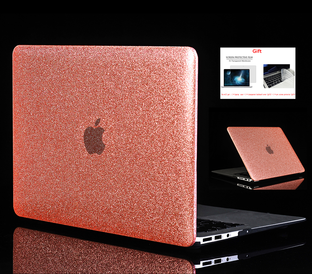 Shine Glitter Hard Laptop Case For font b Apple b font font b Macbook b font
