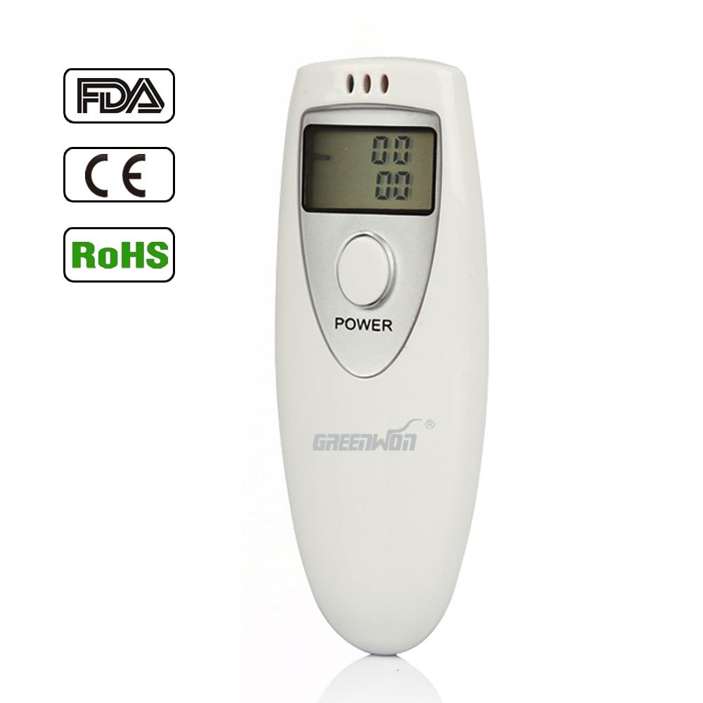 GREENWON Цифровой ЖК-анализатор дыхания, детектор, тестер, алкотестер, алкотестер, и