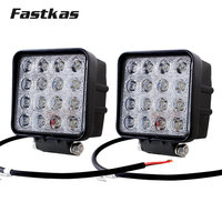 FASTKAS 2x 48w LED Work Light SUV Truck Tractor ATV 12V 24V 4X4 LED Offroad Fog