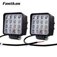 FASTKAS 2x 48w LED Work Light SUV Truck Tractor ATV 12V 24V 4X4 LED Offroad Fog