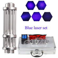 Most Powerful Burning Laser Torch 450nm 10000m Focusable Blue Laser Pointers Flashlight burn match candle lit cigarette купить недорого в Москве