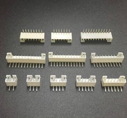 100pcs Micro Mini JST PH 2.0mm 2/3/4/5/6/7/8/12 pin Vertical Male Plug, Right Angle Male Connector