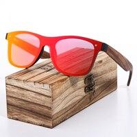 BARCUR 2018 Zebra Drewniane Marka Vintage Style Bez Oprawek Okularów Przeciwsłonecznych Mężczyzna Soczewka Płaska BC2140 Kwadratowych Rama Kobiety Okulary Óculos Gafas