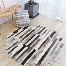 Воловья кожа, соединяющийся вместе круглый ковер для гостиной, современное одеяло, светильник в американском стиле, Роскошный Ковер неправильной формы