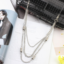 HOT 2-3 Layer Rock Punk Hook Trousers Pant Waist Link Belt Chain Bags Hip Hop Accessories Metal Wallet Cross Street