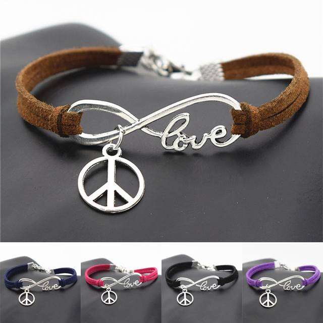 10pcslot Fashion Peace Symbol Jewelry Friendship Bracelets Gifts