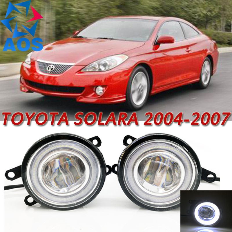 For Toyota Solara Car Styling LED Angel eyes DRL LED Fog lights Car Daytime Running Lights auto fog lamp with bulbs set