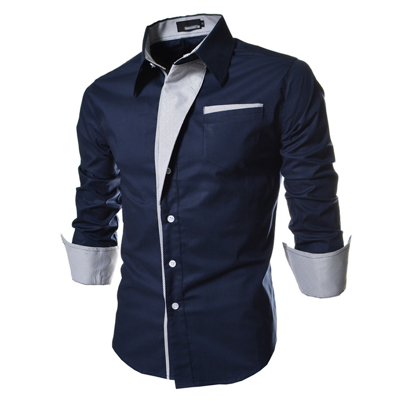 2018 Mens Striped Shirts Casual Long Sleeved Business Slim Fit Male Shirt Social Clothes Camisa Masculina Vetement Homme 3XL 50 ...