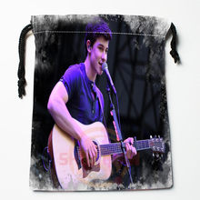 New Shawn Mendes printed storage bag 27x35cm Satin drawstring bags Compression Type Bags Customize your image gifts