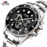2019 New Tevise Brand Men's Watches Top Brand Luxury Men Quartz Watch Sport Stainless Steel Clock Relogio Masculino For Gif