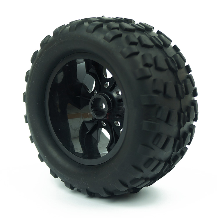 Image 3 - 4PCS HSP Truck Wheel Tires D128mm Rubber Tire 128*65mm Wheels in 12mm Hex Adapter for 1/10 94111 94188 Off road RC Cars-in Parts & Accessories from Toys & Hobbies