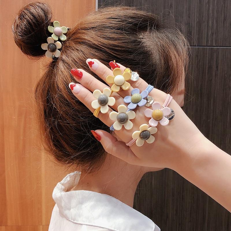 8x Satin Fabric Hair Band Hoop Headband for DIY Baby Girls Hair Accessories