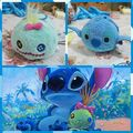 Free Shipping TS Stitch and Scrump 2pcs/lot mobile screen cleaner wiper key chain bag hanger UM plush toys gifts