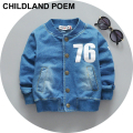 Fashion letter kids boy coat faux denim baby clothes jacket kids spring coats Outwear newborn baby boys clothes children Jackets