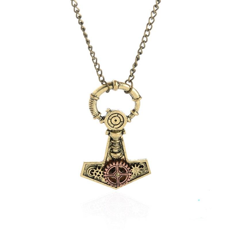 ISINYEE Fashion Crystal Key Heart Anker Hanger Beaded Chain Steampunk - Mode-sieraden - Foto 5