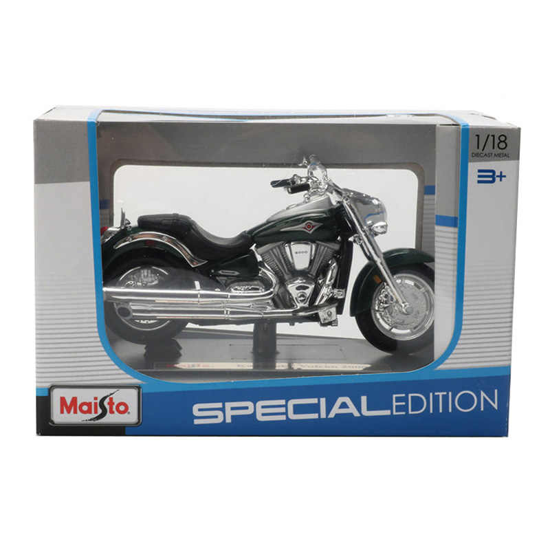Maisto 1:18 Sepeda Motor Model Mainan Alloy Motor Ninja ZX 10R KX250F Z1000 Vulcan Collrction Orang Dewasa Mainan Hadiah