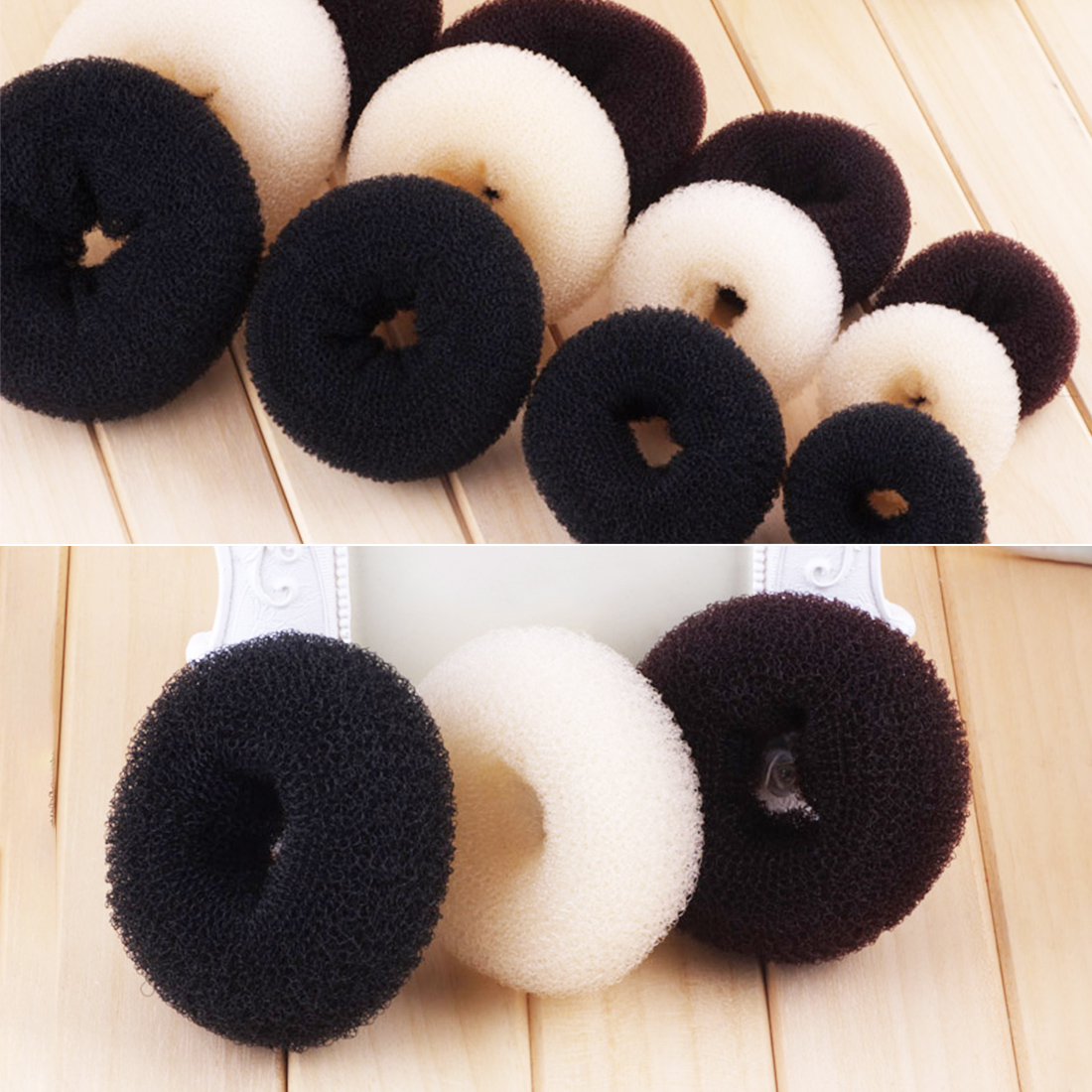 Girl Women Hairbands Hair Accessories  Donut Bun Maker Round Sponge Hair Curler Curling Iron Hairstyle Styling Tools