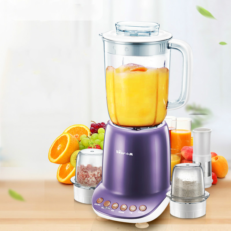 Bear Household Multifunctional Intelligent Timing Cooking Machine with 3pcs Cups for Meat Grinders Blenders Stand Mixer Juicers