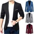 2016 New Arrival Casual Slim Stylish fit One Button Suit men Blazer Coat Jackets Male Fashion Dress Clothing Plus Size M -XXXL