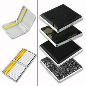 20 18 16 14 12 10pcs Cigarettes Novelty Cigarette Case Smoking Accessories Metal Cigarette Box Cigarette Holder Tobacco Box(China)
