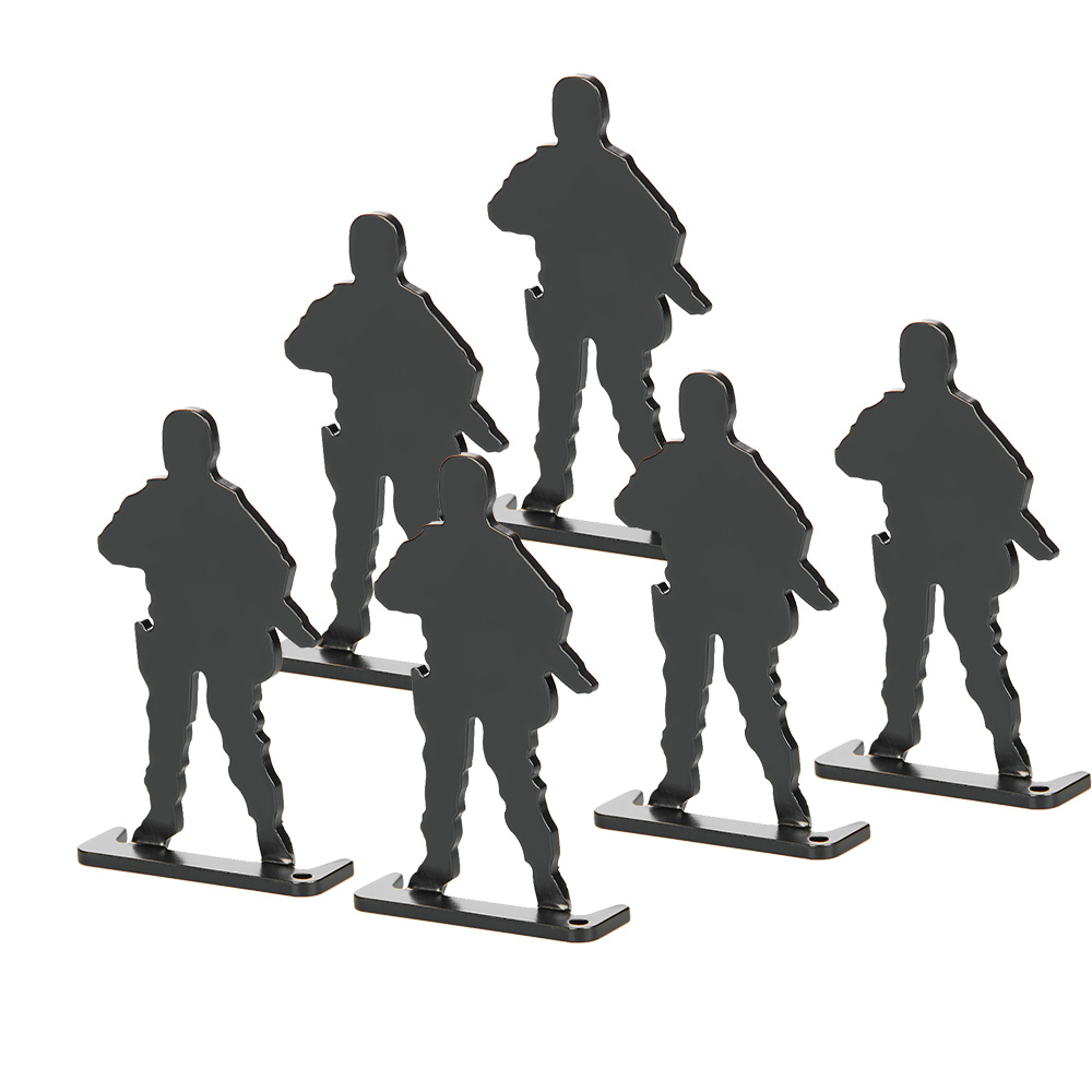Metal Airsoft Shooting Target Standing Army Style (6pcs/pack) Paintball Accessories For Practicing/ Airsoft/Shooting PP36-0016