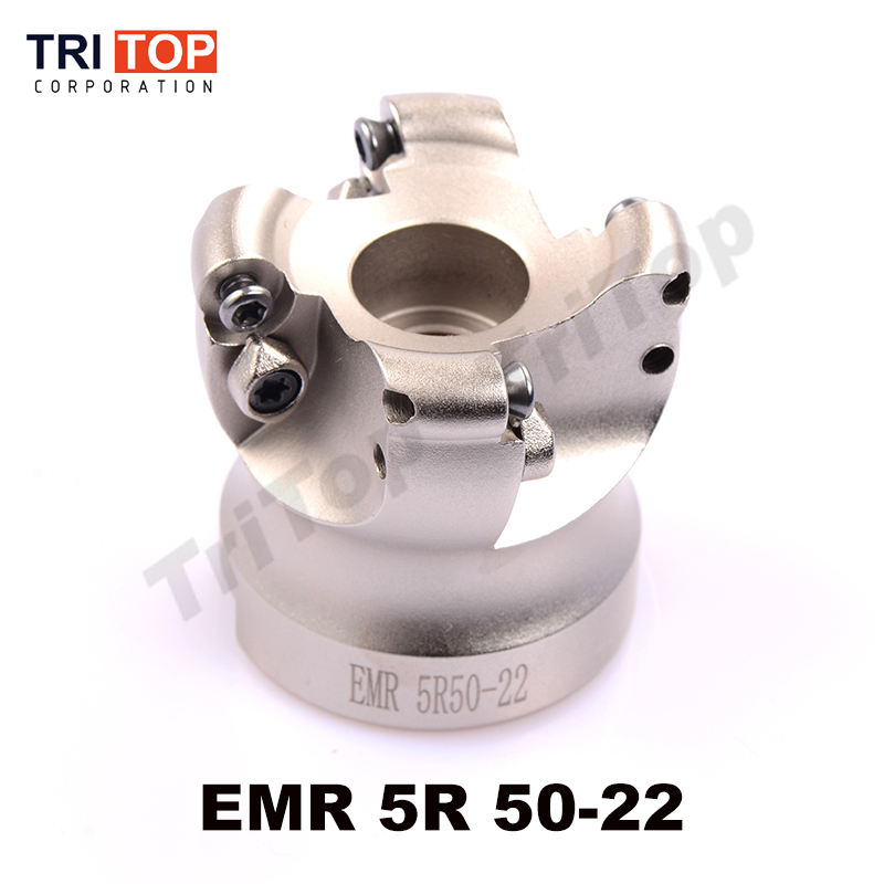 Free shipping EMR 5R 50-22-4T face mill milling cutter cnc milling tools for round inserts type R5 RPMW1003 free shiping r200 5r 50 22 4t 1 face mill head cutter shell mill 50mm for rckt10t3mo free shipping