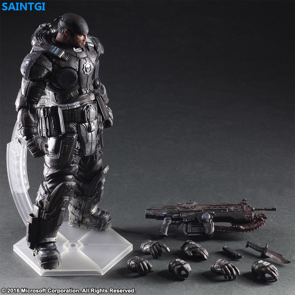 SAINTGI Gears of War Marcus Fenix PVC 26CM Animated Action Figure Collection Model game figure Dolls Kids Toys Free Shipping neca gears of war 2 action figures boys hobby toys games collectable 7dominicsantiago figures are