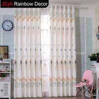 JRD Cartoon Princess Curtains Baby Girl Tulle Curtain For Living Room Children Nursery Cortina Kids Bedroom