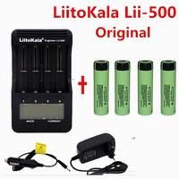 1pcs LiitoKala lii 500 LCD 3.7V 18650 21700 battery Charger+4pcs 3.7V 18650 3400mAh NCR18650B li ion Rechargeable Batteries