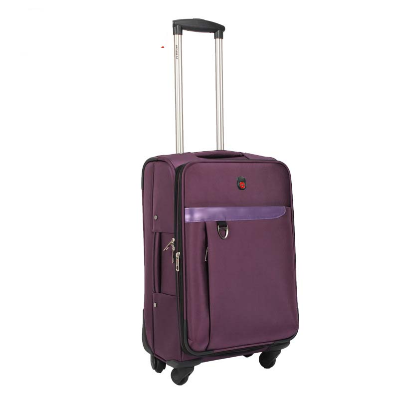 Letrend 22 Inch Women Purple Oxford Rolling Luggage Spinner Trolley Black Men Suitcases Wheels Travel Bag Business Password box