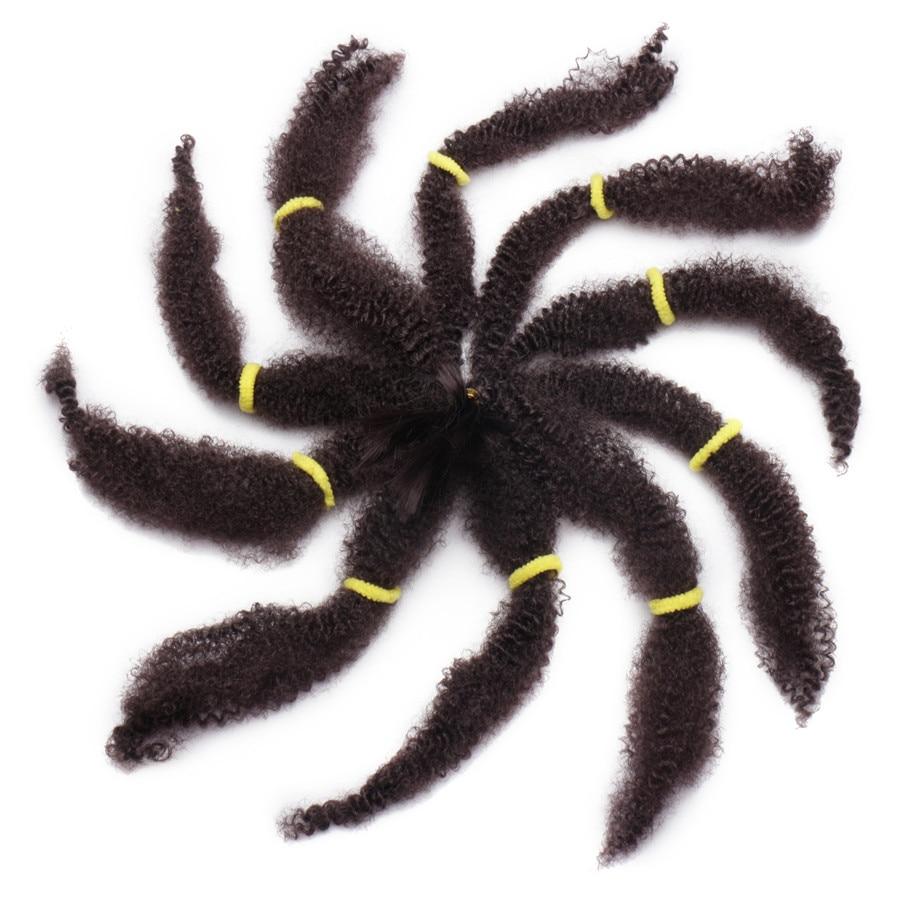 Rapture Aigemei Afro Bulk Hair Synthetic Hair Extension For Braids Heat Resistent Fiber 18 Kinky Curly Hair Bundles Home