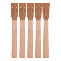 Acoustic Guitar Neck for Guitar Parts Replacement Luthier Repair Diy Unfinished Acacia Head Veneer Pack of 5