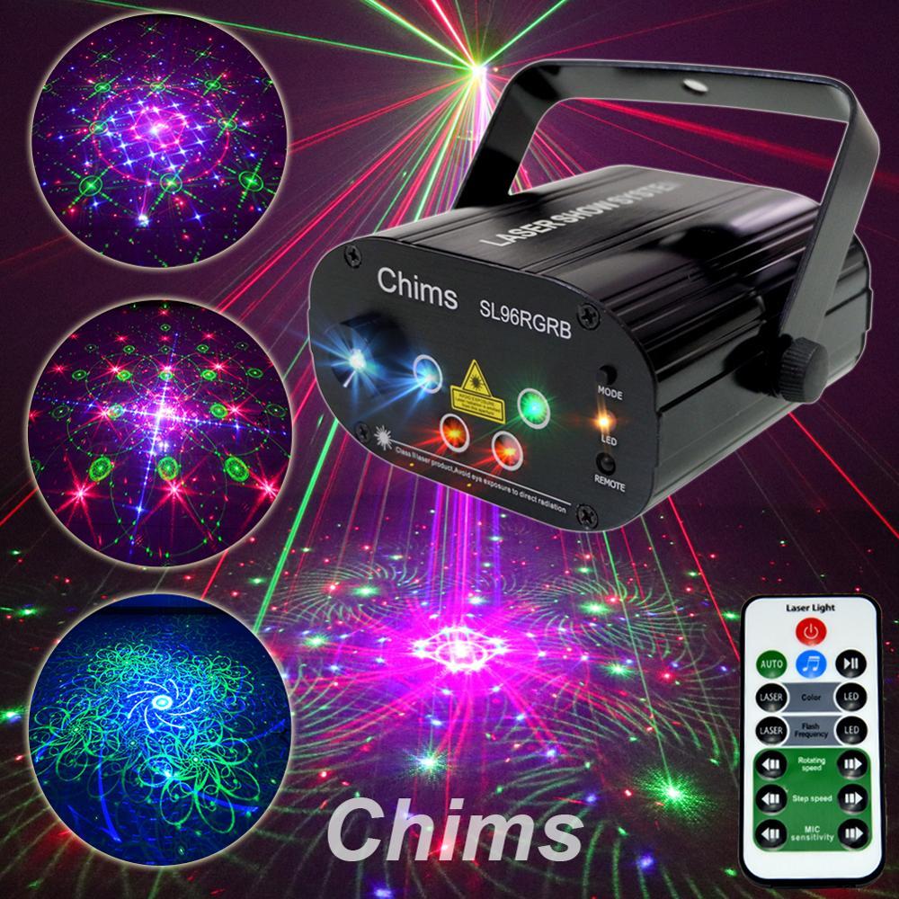 96 Chims RGB Party Light Stage Luz Laser Projetor Laser Padrão Led Colorido Da Música do DJ Natal Luz de Discoteca Espetáculo de Dança DJ Club Bar