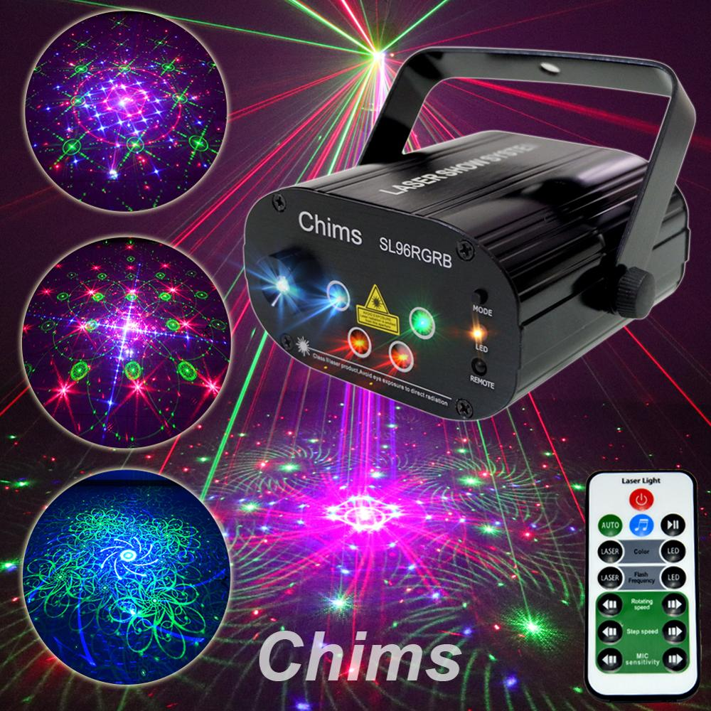 Chims RGB Stage Light Party Laser Light 96 Pattern Laser Projector Led Colorful DJ Music Xmas Disco Light Show Dance DJ Club Bar-in Stage Lighting Effect from Lights & Lighting