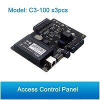 3 шт. ZK C3 100 одна дверь безопасности на основе IP дверца Управление Панель TCP/IP RS485 Связь Advanced дверца Управление;
